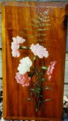 Carnations on Wood