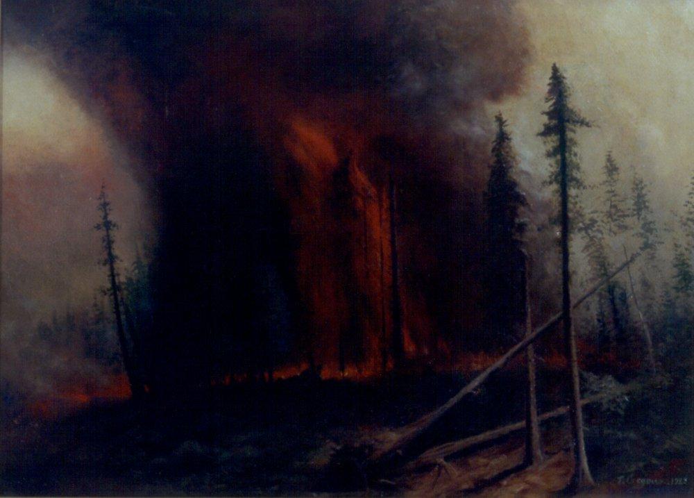 Folk Art History Oregon Painting Forests