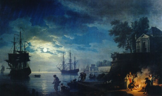 Clair de lune -- Claude-Joseph Vernet (1714 - 1789)
